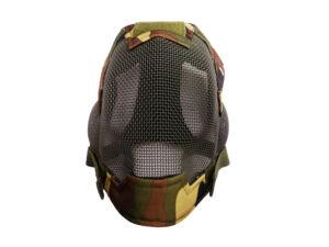 V6 Teljes arcos acélhálós maszk Woodland