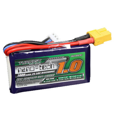 Turnigy nano-tech 1000mah 2S 25-50C Lipo Airsoft akkumulátor N10002S25