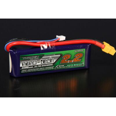 Turnigy nano-tech 2200mah 2S 35-70C Lipo Airsoft akkumulátor N2200.2S.35