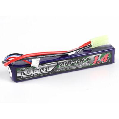 Turnigy nano-tech 1400mah 3S 15~25C Lipo Airsoft akkumulátor NG1400A.3S.15