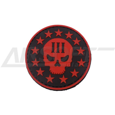 3D PVC PATCH - RED SKULL