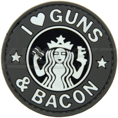 PATCH 0115 - I LOVE GUNS - FEKETE