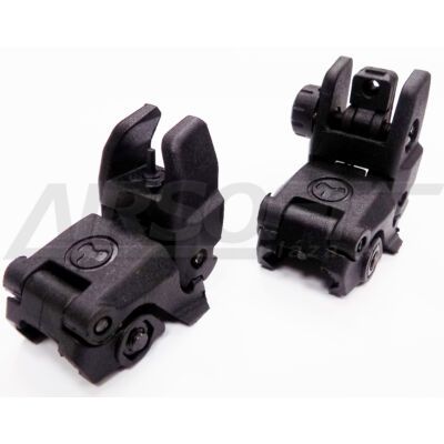 MAGPUL II REAR AND FRONT SIGHT - FEKETE