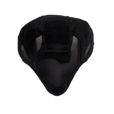 V6 Teljes arcos acélhálós maszk (FEKETE)