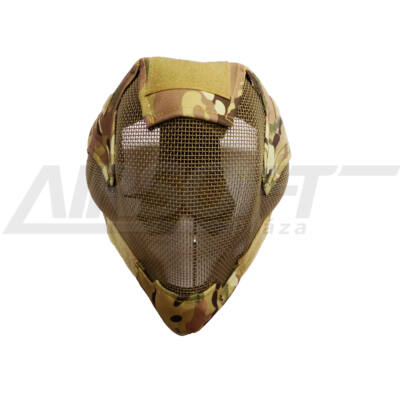 V6 Teljes arcos acélhálós maszk Multicam